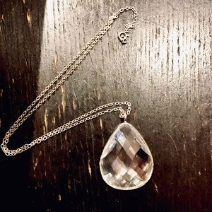 Crystal droplet necklace